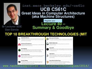 Top 10 breakthrough technologies (Mit TR)