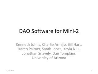 DAQ  Software for Mini-2