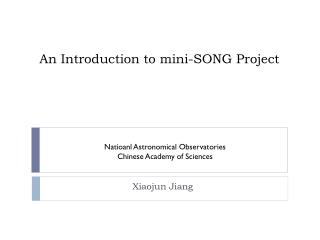 An Introduction to mini-SONG Project