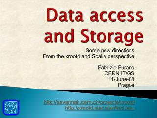 Data access and Storage