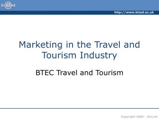 marketing in the travel and tourism industry