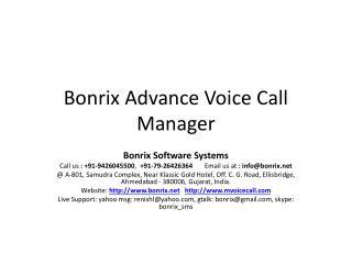 Bonrix  Advance Voice Call Manager