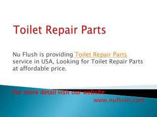 Reliable Toto Toilet Fill Valve Service with Affordable Pric