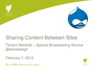 Sharing Content Between Sites