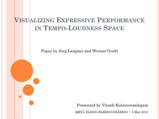 Visualizing Expressive Performance in Tempo-Loudness Space