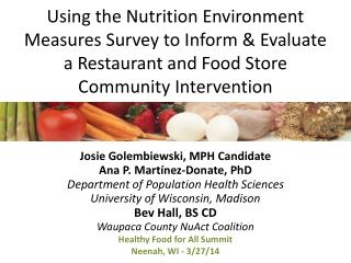 Using the Nutrition Environment Measures Survey to Inform & Evaluate a Restaurant and Food Store Community Intervention
