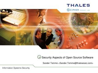 Security Aspects of Open Source Software