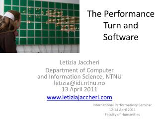 The Performance Turn and Software