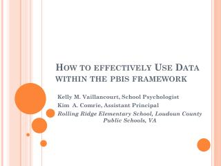 How to effectively Use Data within the  pbis  framework