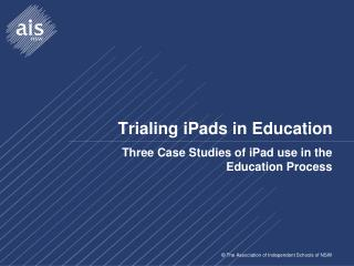 Trialing iPads in Education
