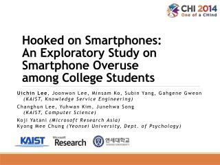 Hooked on Smartphones:  An  Exploratory Study on Smartphone Overuse  among  College Students