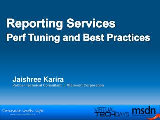 Reporting Services  Perf Tuning and Best Practices