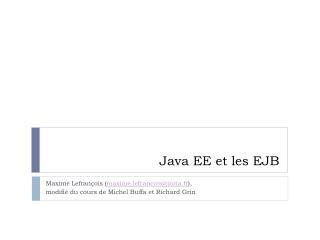 Java EE et les EJB