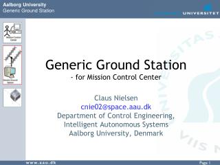 Generic Ground Station  - for Mission Control Center