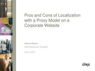 Web Globalization Strategist