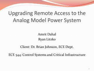 Upgrading Remote Access to the Analog Model Power System