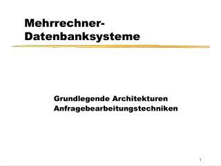 Mehrrechner-Datenbanksysteme