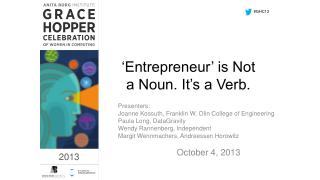 'Entrepreneur' is Not a Noun. It's a Verb.