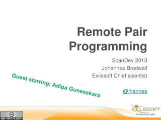 Remote Pair Programming