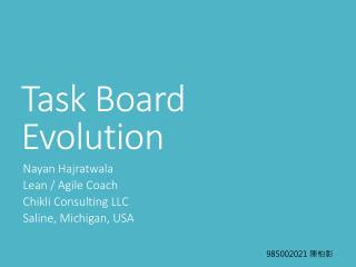 Task Board Evolution