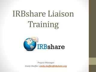 IRBshare Liaison Training
