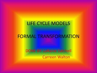 LIFE CYCLE MODELS FORMAL TRANSFORMATION