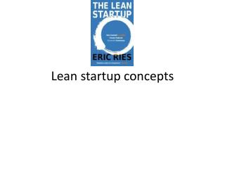 Lean startup concepts