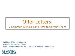 Offer Letters: 7 Common Mistakes and How to Correct Them
