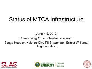 Status of MTCA Infrastructure
