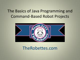 The Basics of Java Programming and Command-Based Robot Projects