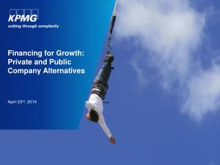 Financing for Growth: Private and Public Company Alternatives
