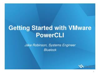 Getting Started with VMware  PowerCLI