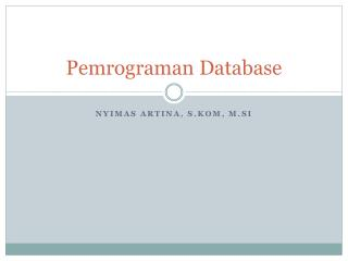 Pemrograman  Database