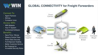 GLOBAL CONNECTIVITY for Freight Forwarders