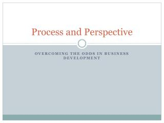 Process and Perspective