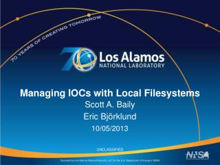 Managing IOCs with Local  Filesystems