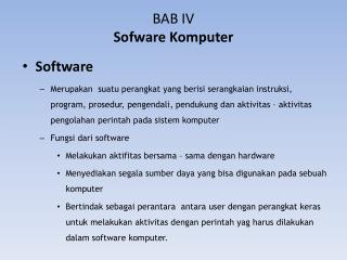BAB  I V Sofware Komputer