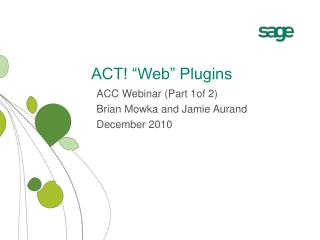 "ACT! ""Web"" Plugins"