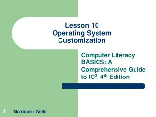 Lesson 10 Operating System Customization
