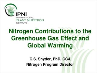 nitrogen contributions to the greenhouse gas effect and global warming