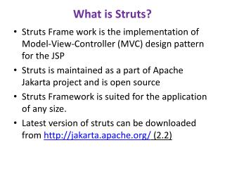 What is Struts?