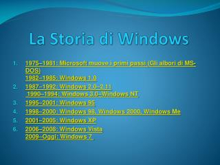 La Storia di Windows