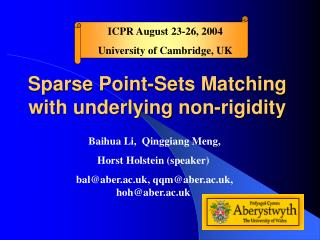 Sparse Point-Sets Matching with underlying non-rigidity