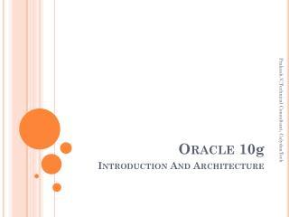 Oracle 10 g