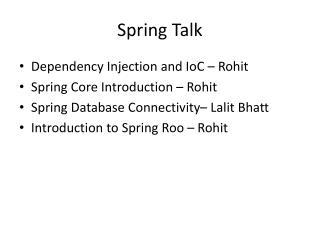 Spring Talk