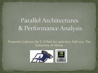 Parallel  Architectures & Performance Analysis