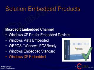 Solution Embedded Products