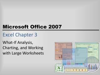Excel Chapter 3