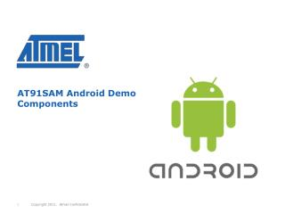 AT91SAM Android Demo Components
