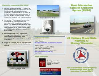 Rural Intersection Collision Avoidance System (RICAS) US Highway 53 and State Highway 73 Minong, Wisconsin